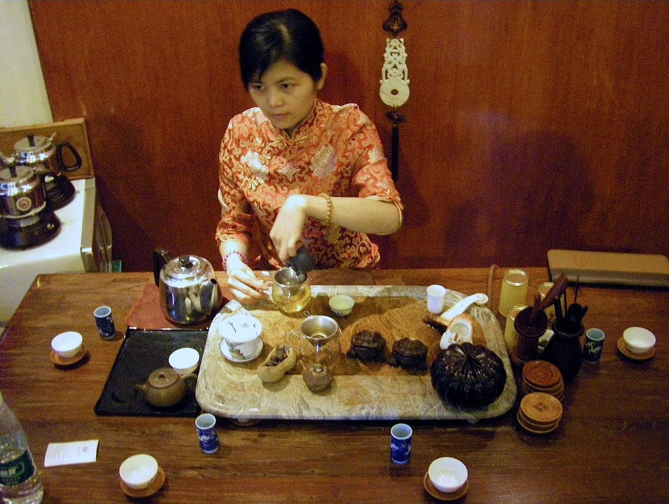 Traditional Tea Service with Organic, Vegetarian Menu Guangzhou  China