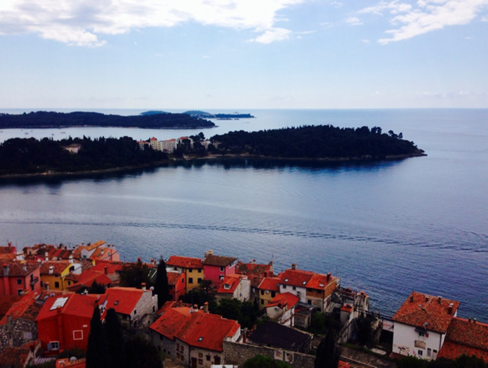 Climb the tower, Rovinj view   Croatia