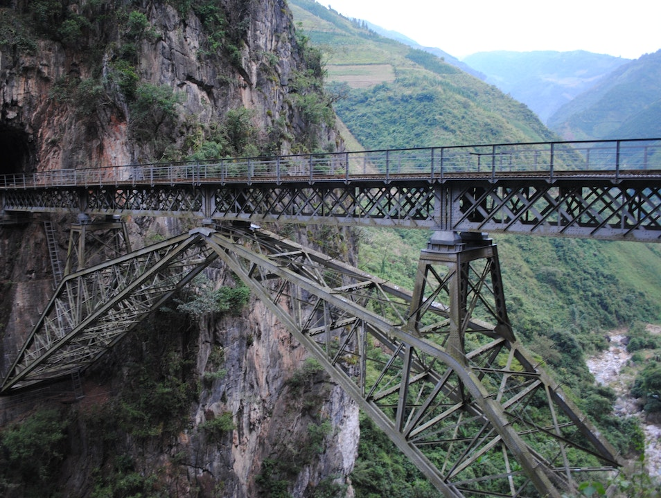 French Colonial Railway in Yunnan, China