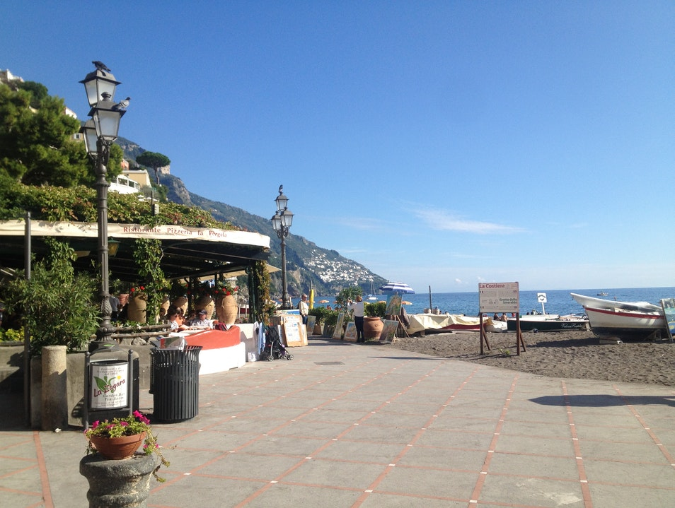 Lunch by the Beach in Positano Positano  Italy
