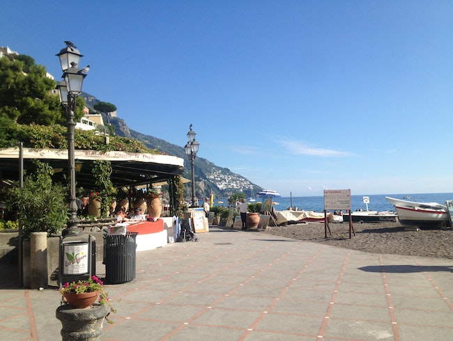 Lunch by the Beach in Positano