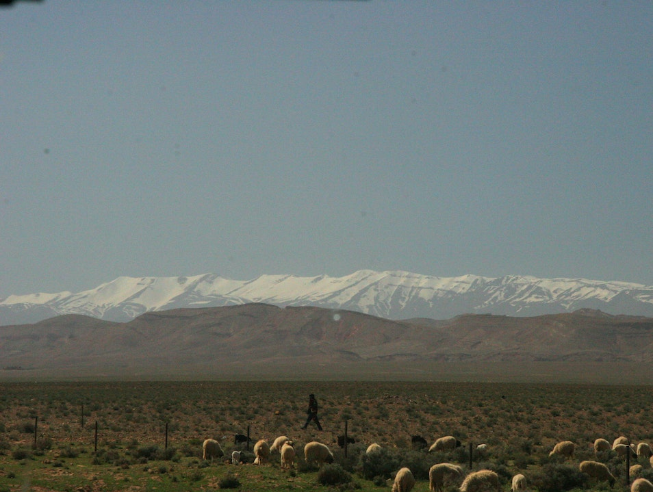 The High Atlas Mountains Ouarzazate Province  Morocco