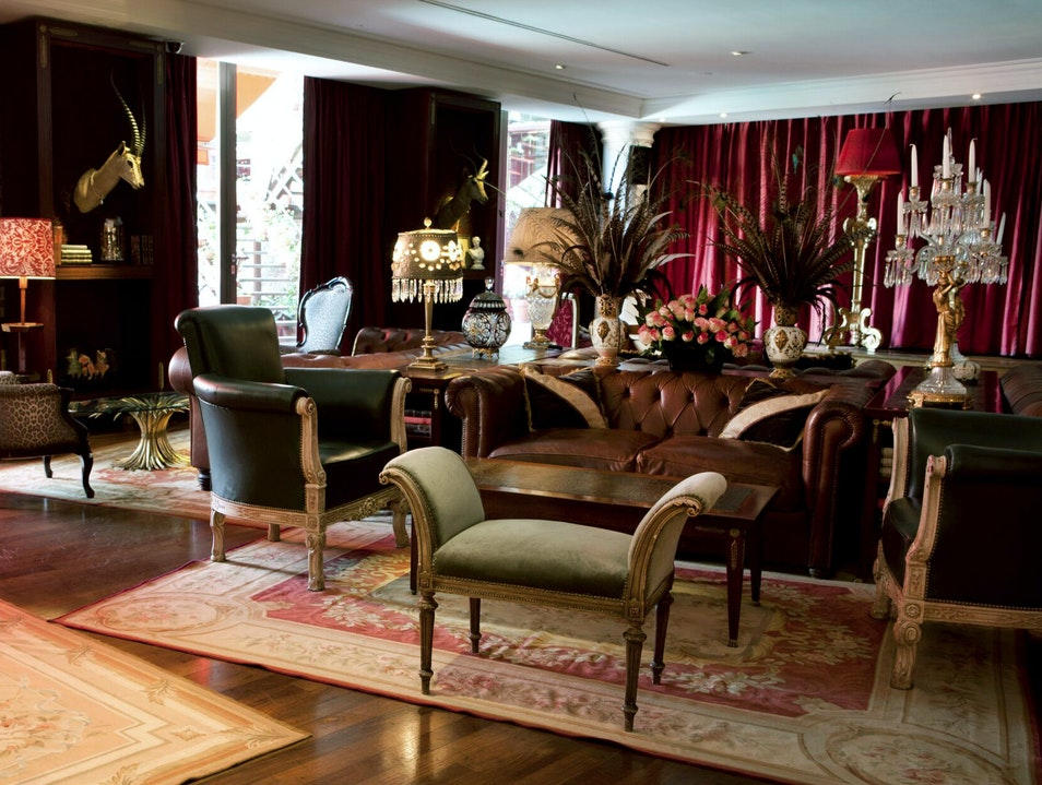 The Library Lounge in the Faena Hotel Buenos Aires  Argentina