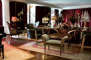 The Library Lounge in the Faena Hotel