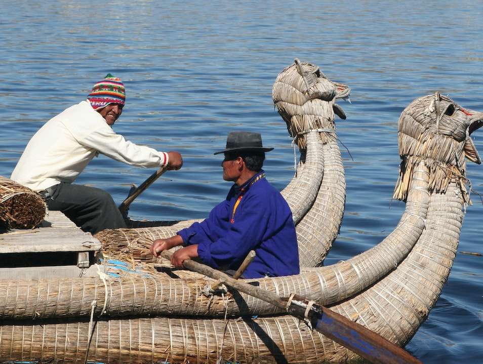 Floating Islands Puno  Peru
