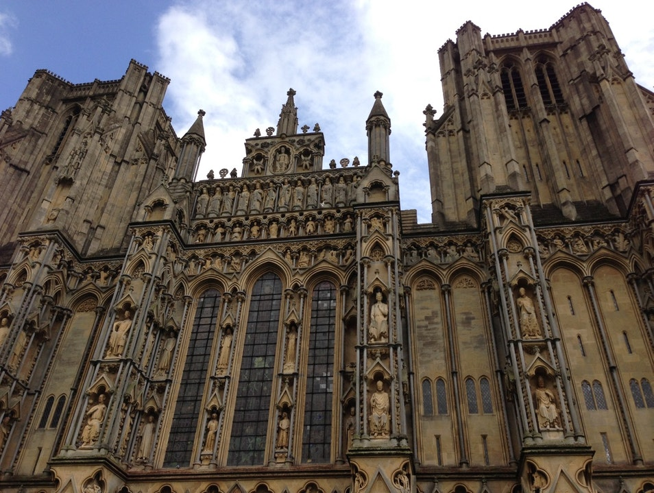 Visit England's first Gothic Cathedral Wells  United Kingdom