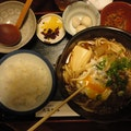 Sukiyaki Restaurant on street immediately west of the Imperial Garden Kyoto  Japan