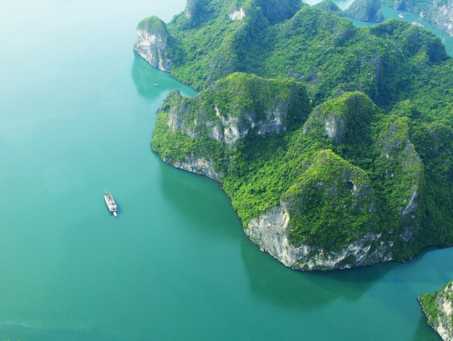 A Birdseye View over Halong Bay