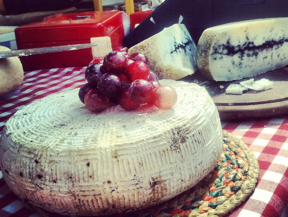 Goats cheese in farm market