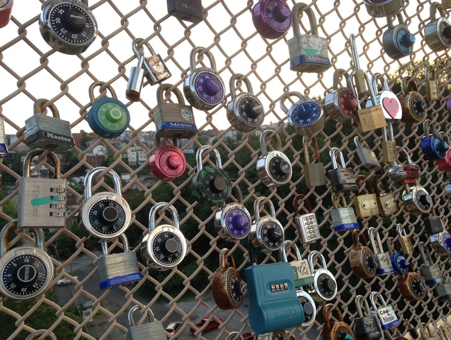 Love Locks on the Schenley Bridge