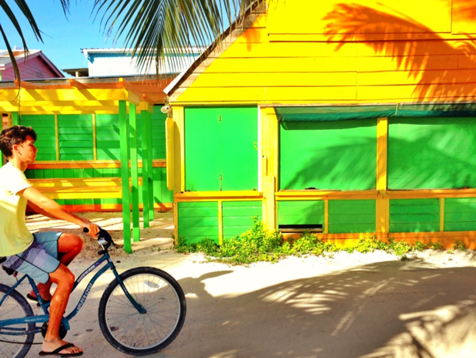 Morning Rides Down Caye Caulker  Belize  Belize