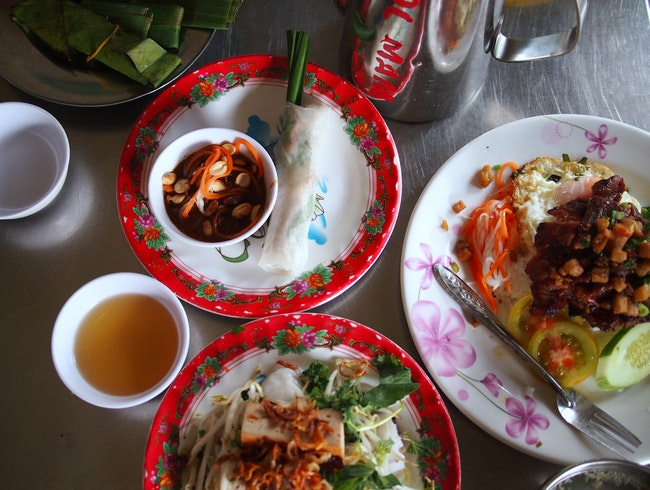 Ho Chi Minh isn't just about soup: steamed rice crepes FTW!