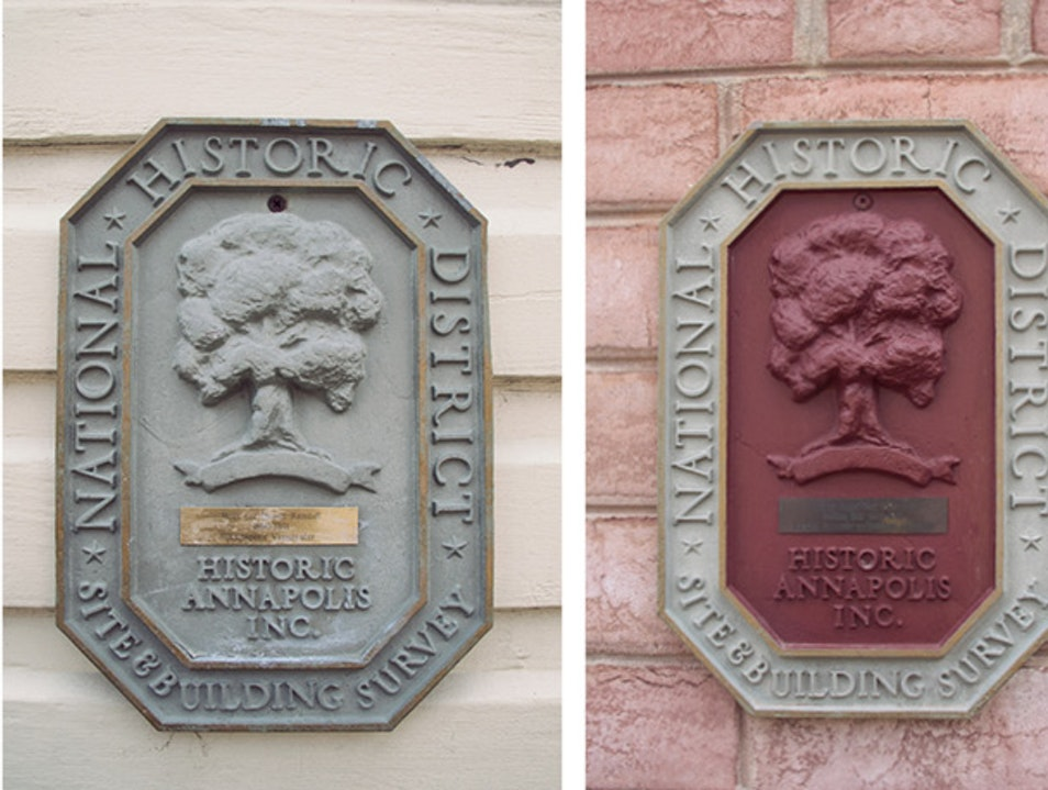 Annapolis' Historic Building Markers Annapolis Maryland United States