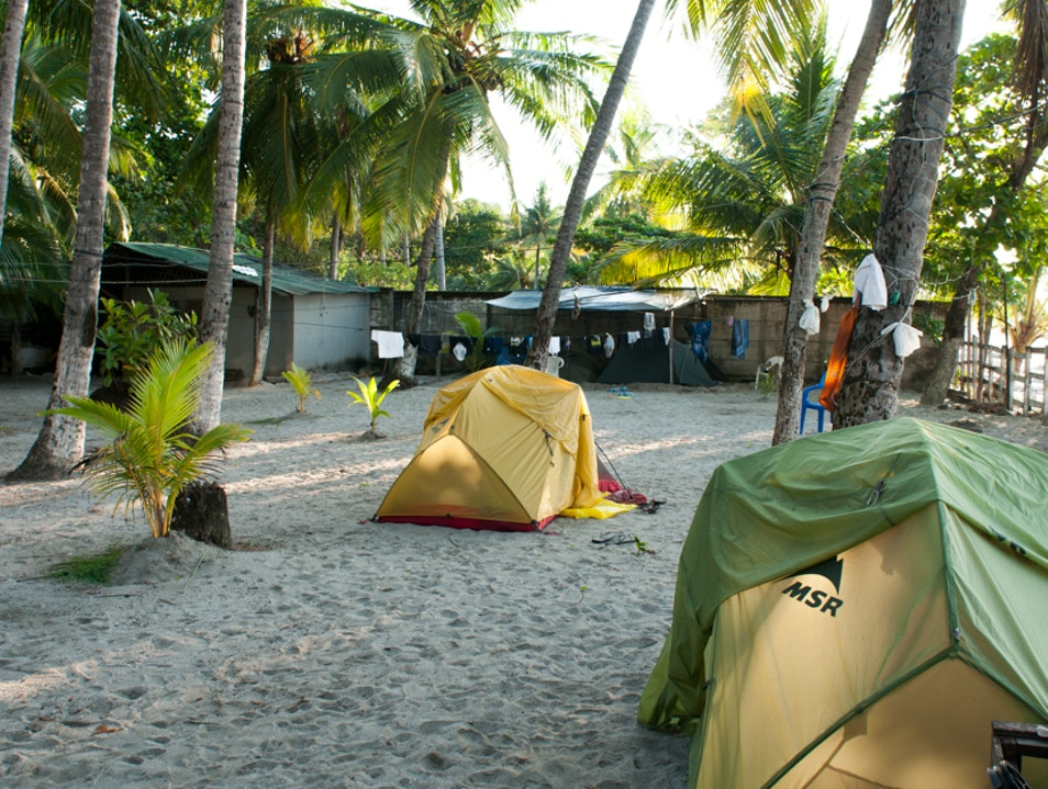 Camp on the Beach in Samara Guanacaste  Costa Rica