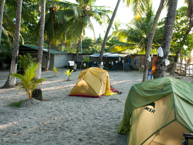 Camp on the Beach in Samara