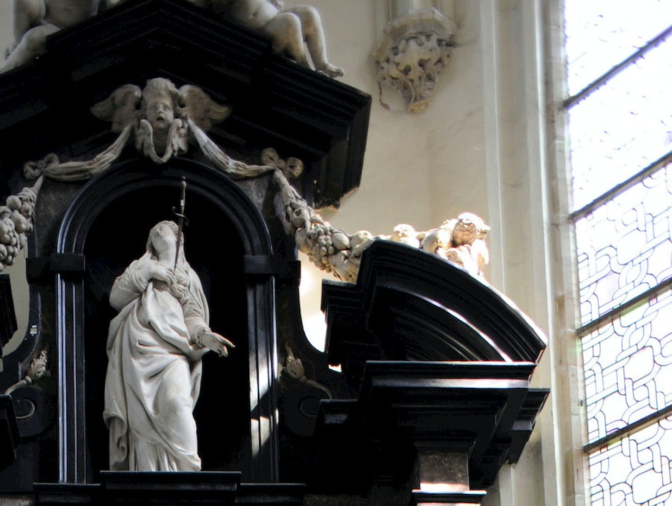 Rubens's Tomb at St. Jacobskerk Antwerp  Belgium