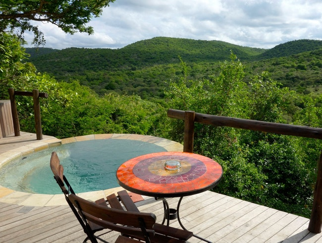 Private Plunge Pools at Rock Lodge