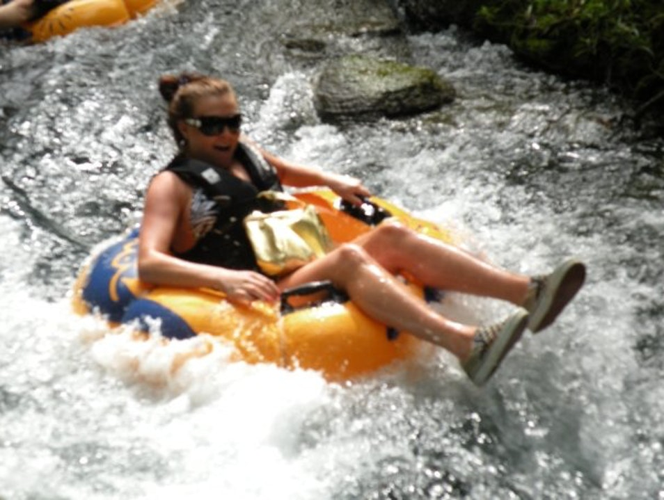 Tubing down the White River Ocho Rios  Jamaica