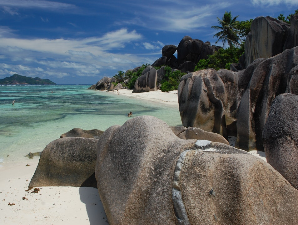 The Most Beautiful Beach in the World La Digue  Seychelles