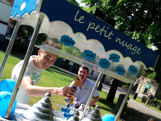 Organic Ice-Cream Cart in Brussels
