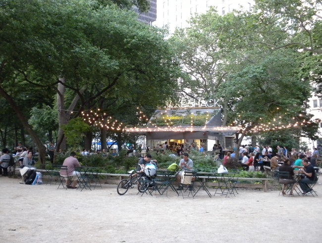 New York's best burger and fries in Madison Square Park's Shake Shack