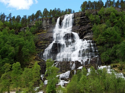 Tvindefossen Waterfall Voss  Norway