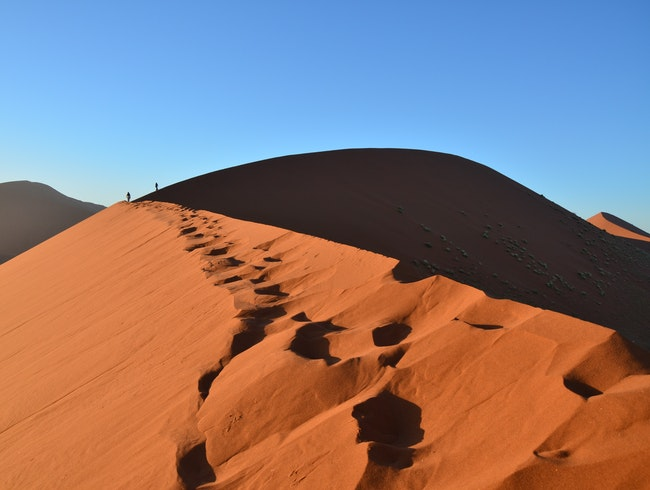 Dune Hiking in Namibia