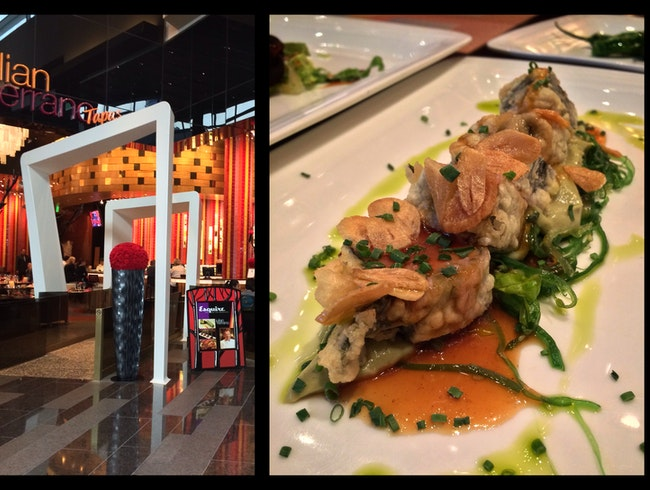 Tuna Tempura with a Spanish flair: new-style tapas in the Aria