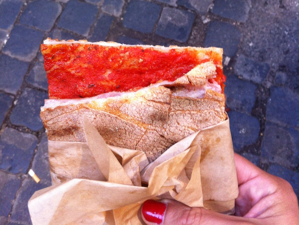 Pizza by the Slice in Campo de' Fiori Rome  Italy