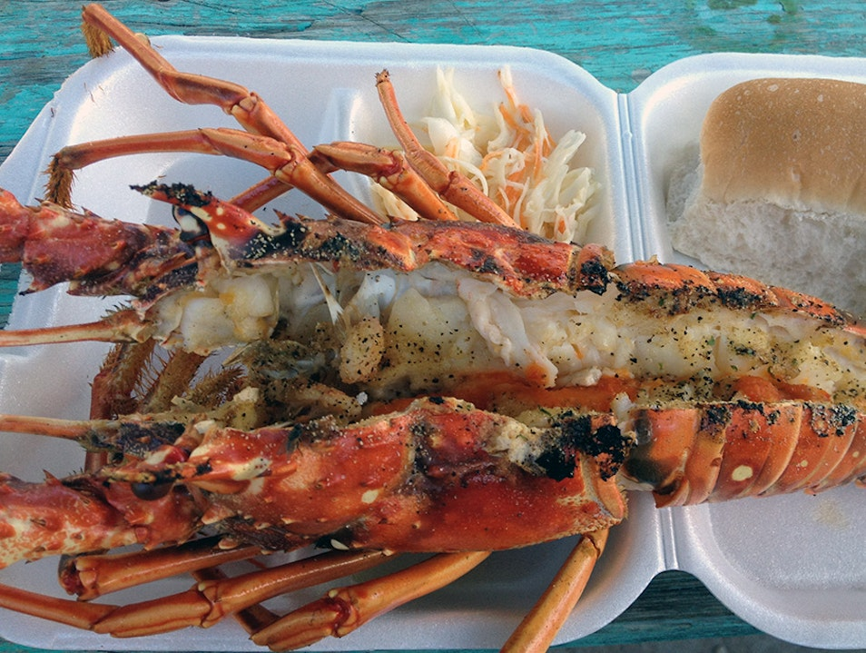 Eat at Caye Caulker's Lobsterfest Belize  Belize