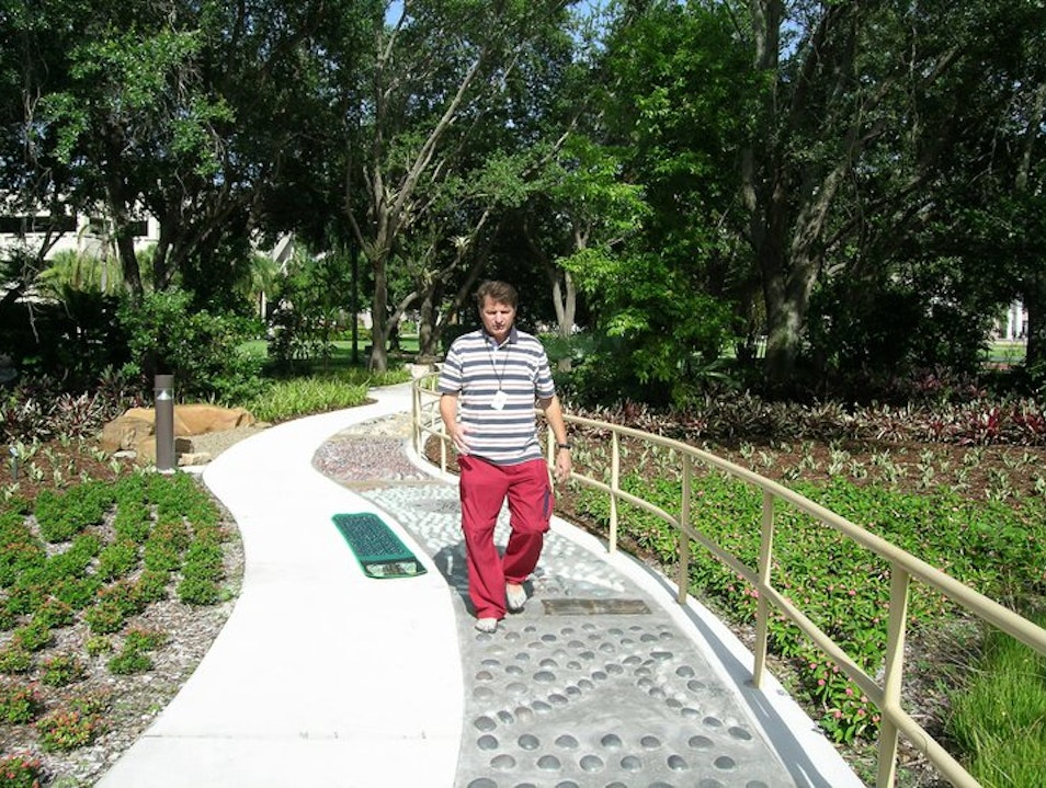 Therapeutic Garden Element:  Acupressure Walkway