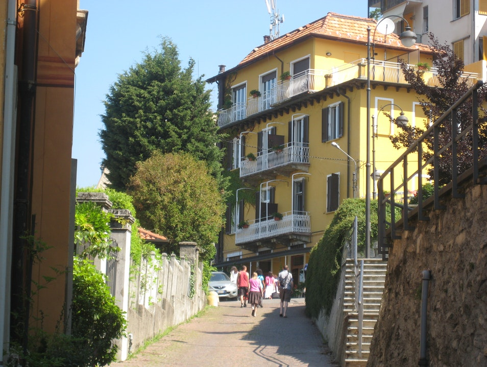 A top Lake Como sits the town of Brunnate Brunate  Italy