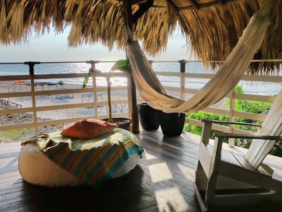 Take an afternoon beach nap Cartagena  Colombia