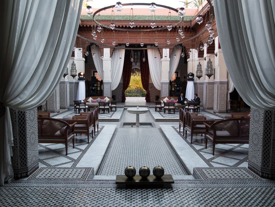A Royal Drinking Spot in Marrakesh Marrakech  Morocco