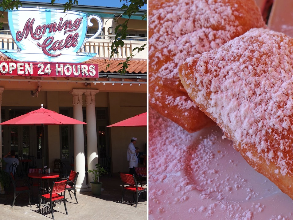 Sugary beignets, 24 hours a day New Orleans Louisiana United States