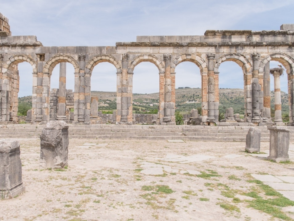Archaeological Site of Volubilis | Walking Around Ancient Roman Ruins Under the North African Sun Meknes El Menzeh  Morocco