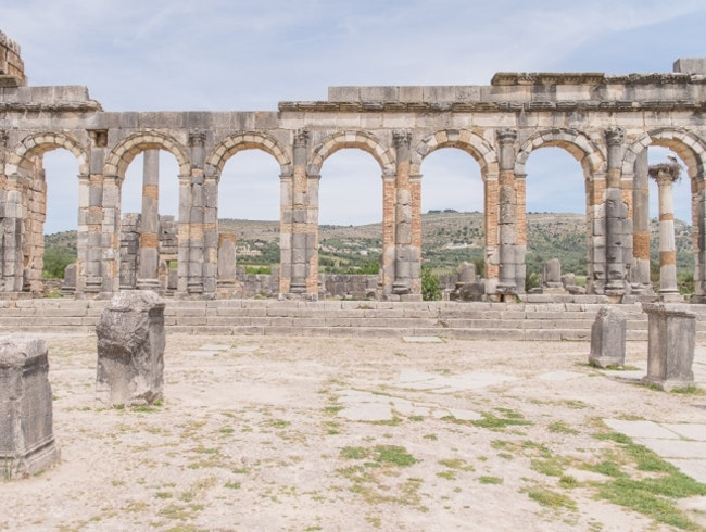 Archaeological Site of Volubilis | Walking Around Ancient Roman Ruins Under the North African Sun