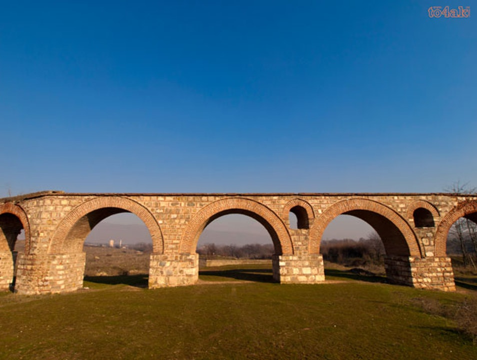 The Roman Aqueduct Skopje  Macedonia (FYROM)