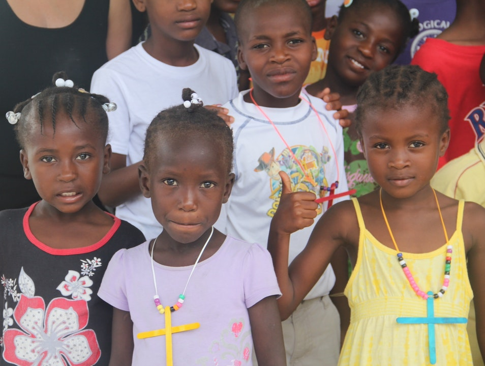 Beautiful Haitian children Fond Parisien  Haiti