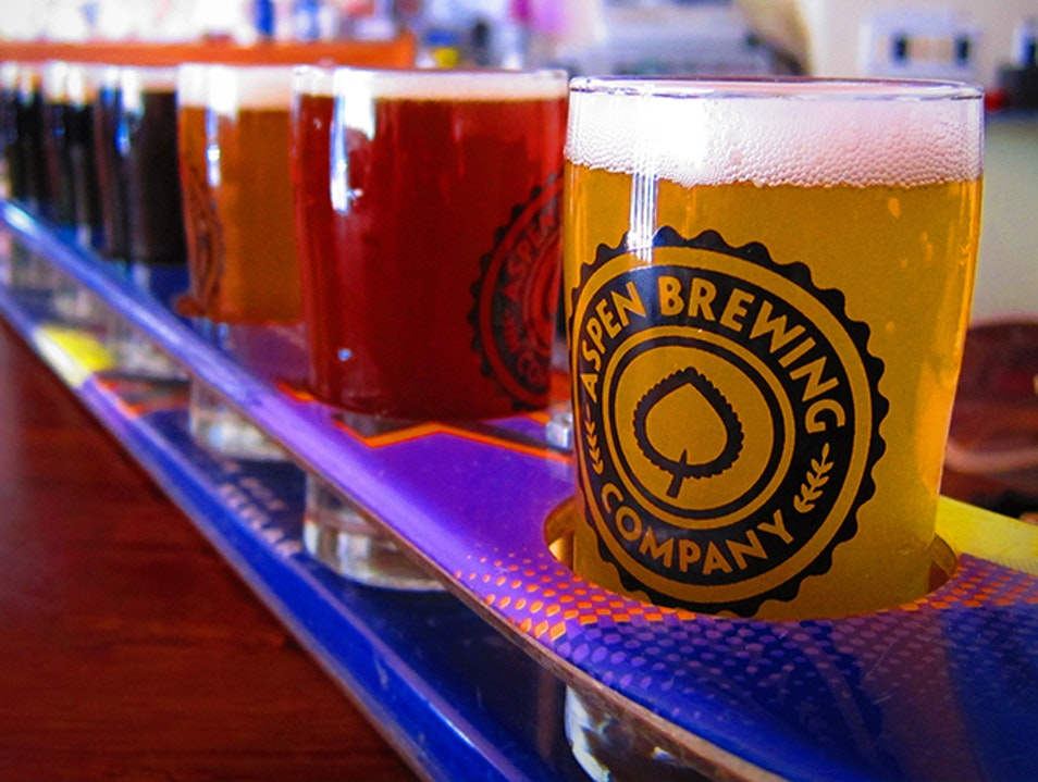 Locally Brewed Beer on Tap