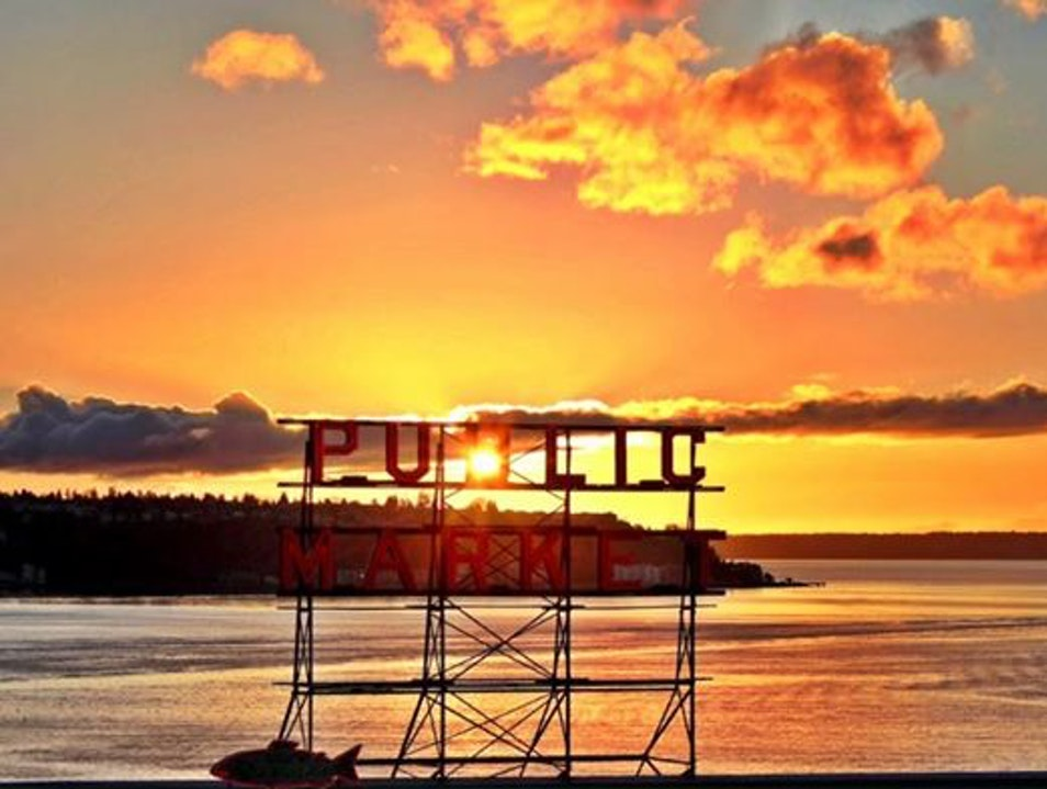 Sunset over the Puget Sound