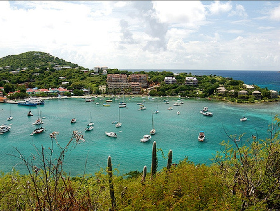 Hike Over to Secluded Honeymoon Beach Old Seaplane Ramp  United States Virgin Islands