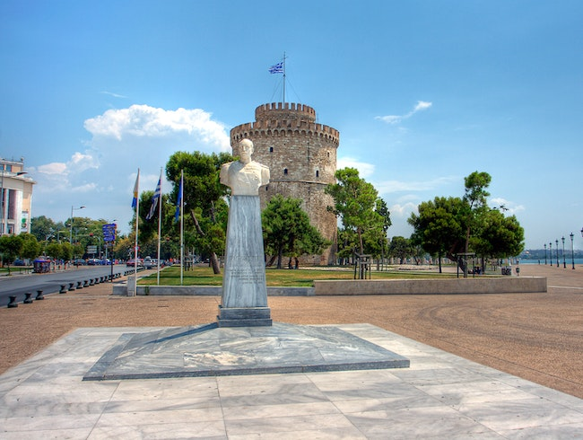 Statue of Admiral Votsi with the White Tower