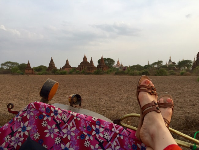 Horse carriage ride through Old Bagan