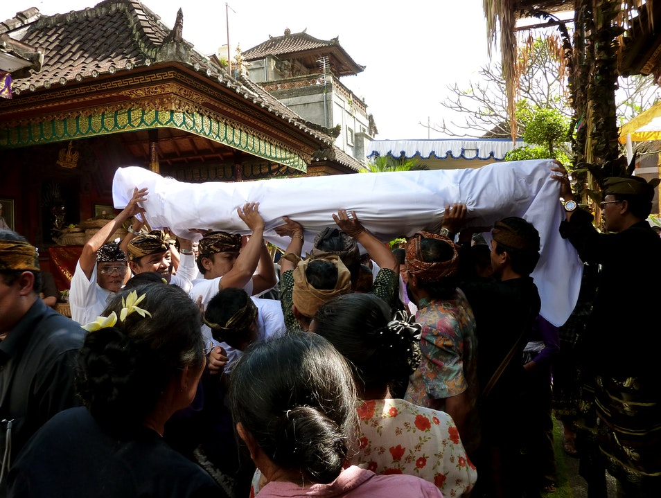 Attend a Balinese Funeral Ubud  Indonesia