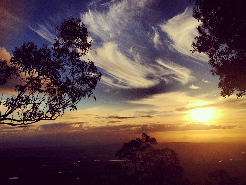 Jaw-dropping sunsets from cabins at The Polish Place Tamborine Mountain  Australia