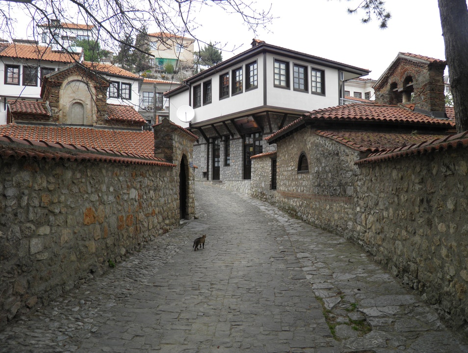 Strolling in the old town of Ohrid