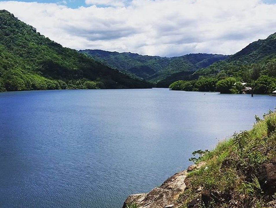 An island lake with a view Utuado  Puerto Rico