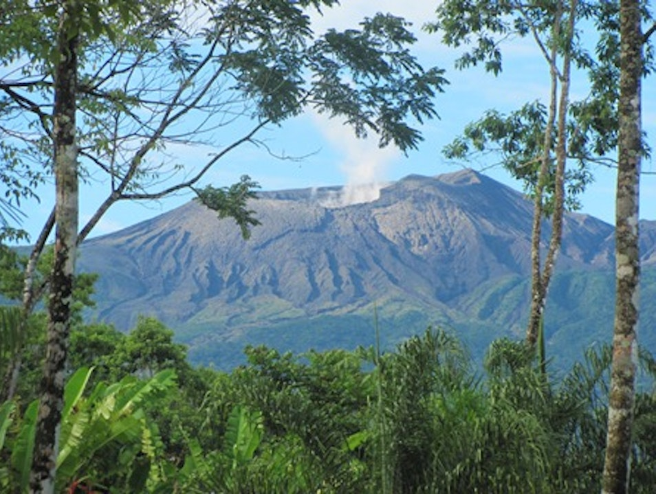 Rincon de la Vieja crater from north side Guanacaste  Costa Rica