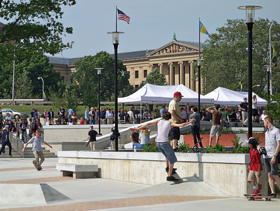 Catch some skaters in action at Paine's Park Philadelphia Pennsylvania United States